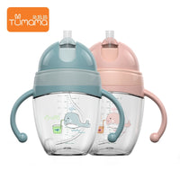 New Baby Feeding Bottles Cups 2  Water Milk Bottle Soft Mouth Infant Drink Training Feeding Bottle