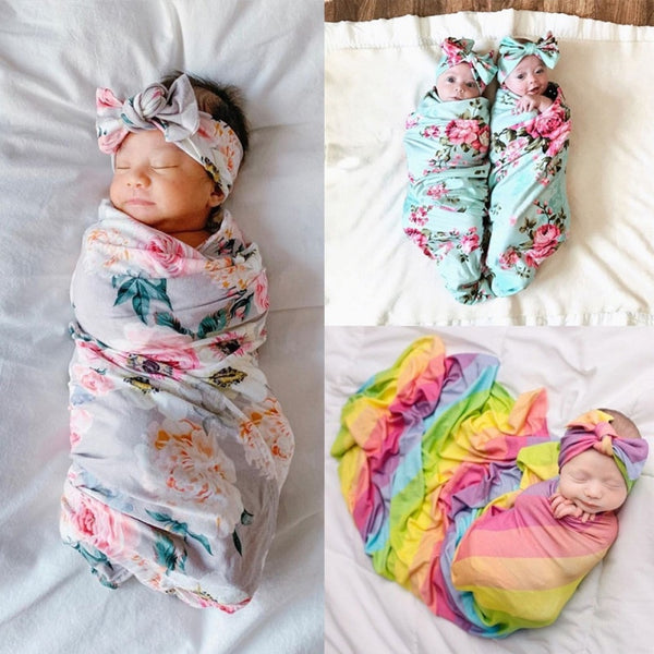 Baby Swaddle Blanket Newborn Baby Floral Swaddle Blanket