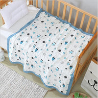 6 layers muslin cotton baby sleeping blanket with wide binding 110*110cm