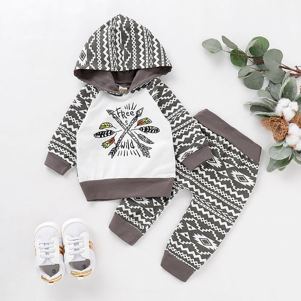 Newborn Infant Baby Boy Clothes Set Warm Cotton Clothes.