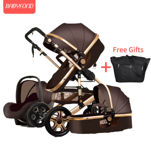 High landscape baby stroller can sit reclining two-way