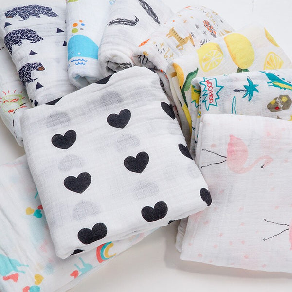 Baby Blankets Newborn Toddler Swaddle Wrap Muslin Diaper