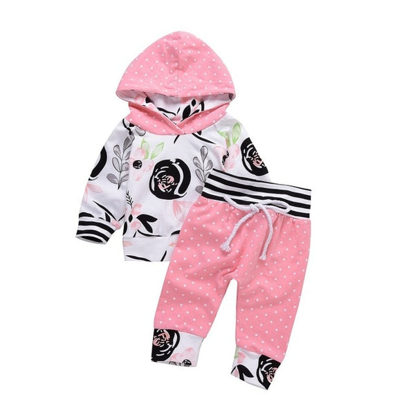hilittlekids Newborn Baby Girls Hoodies Set