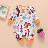 New Newborn Baby Clothes Boys Girls Romper Floral Dinosaur Car Printed Long Sleeve Cotton Romper Kids Jumpsuit Playsuit Outfits