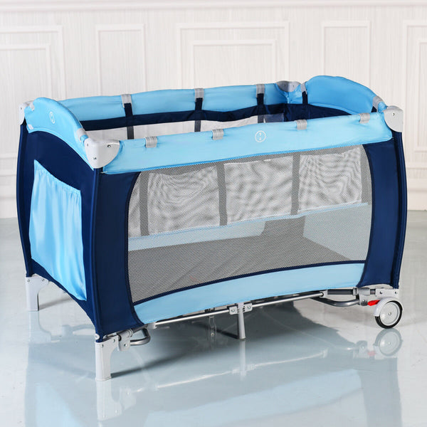 Foldable Baby Crib Playpen Travel Infant Bassinet Bed Mosquito Net Home w/ Bag
