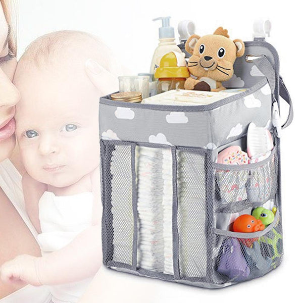 Baby Stroller Hanging Nursery Organizer Multifunctional Diaper Caddy Storage Bag