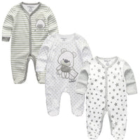 3/4/5Pcs/set Super Soft Cotton Baby Unisex Rompers Overalls Newborn Clothes