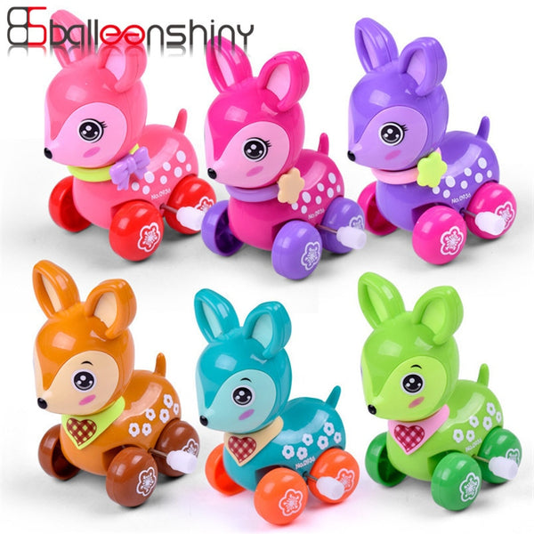 Clockwork Spring Toy Mini Funny Colorful Toy Baby Kid Dear Style Wind Up