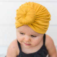 New Baby girls Solid Colored Donut Hats BeBe Turban Hood