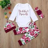 4PCS Newborn Baby Girls Clothes