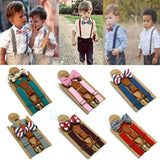 High Elastic Butterfly knot  Braces Suspenders and Luxury Bow Tie Set