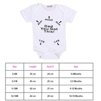 Newborn Toddler Baby Boys Girls Rompers Funny  Letter Cartoon Jumpsuit For Infant Boys Girls Short Sleeve Clothing