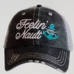 Feeling Nauti w/ Anchor Gray Hat -Teal