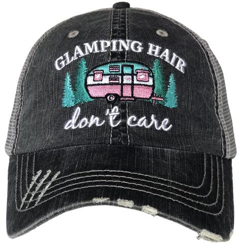 Glamping Hair Don't Care Gray Hat