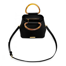 Load image into Gallery viewer, TORI TORTOISESHELL PURSE BLACK