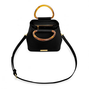 TORI TORTOISESHELL PURSE BLACK