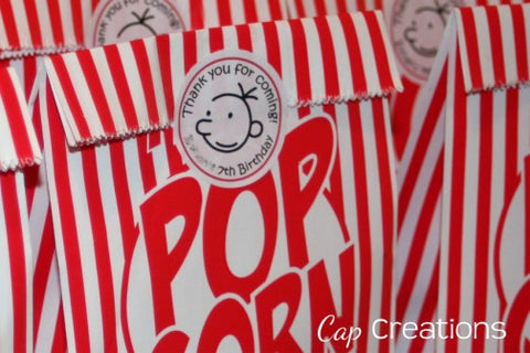 Diary of a Wimpy Kid Party Tags