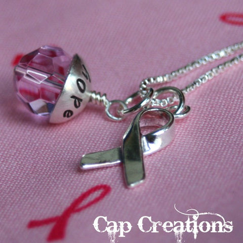 Hope Breast Cancer Necklace