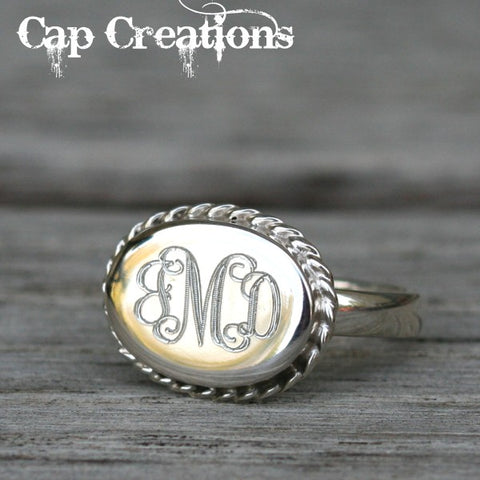 Engraved Rope Ring