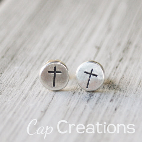 Stamped Stud Earrings