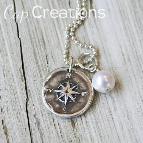Compass Wax Seal Pendant