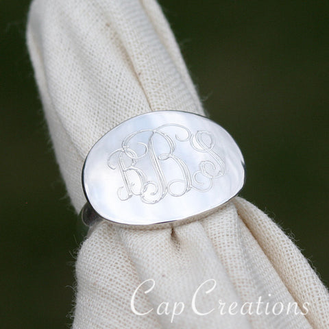 Engraved Oval Ring
