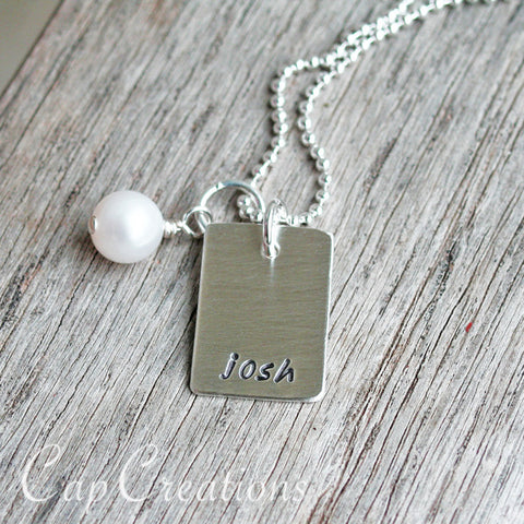 Simple Tag Necklace