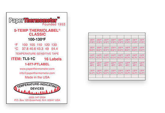 5-Temp Classic THERMOLABEL®