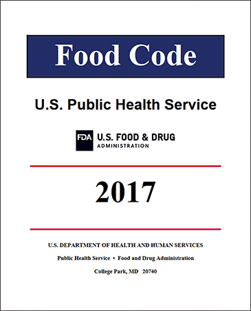 Cover of the FDA Food Code 2017 Edition