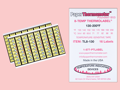 TL8-130 Label Sheets and Packaging