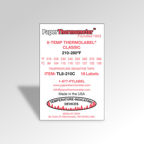 8-Temp THERMOLABEL® Classic 210-280°F