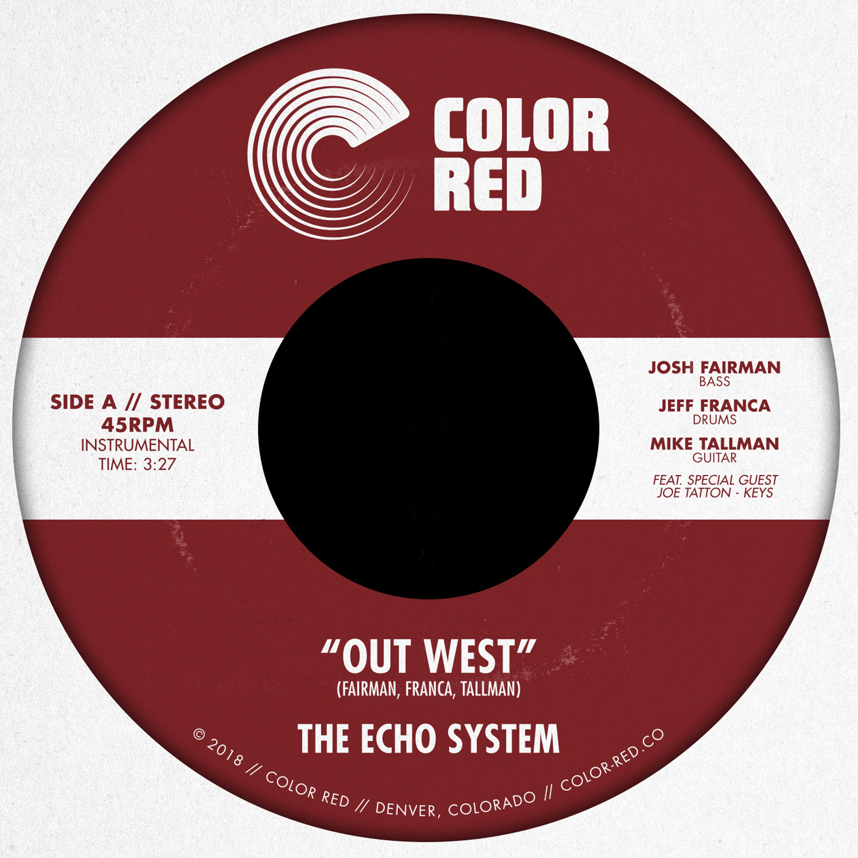 The Echo System - Out West / Love Tree 45 COLOR RED VINYL