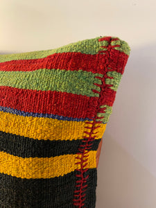 Wool Striped Pillow Cover