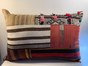 Wool Patchwork Pillow Cover