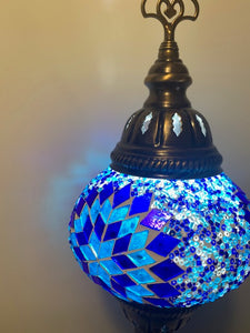 Mosaic Tower Table Lamps