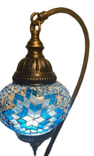 Load image into Gallery viewer, Mosaic Swan Table Lamps