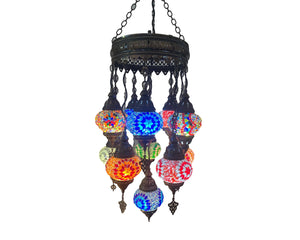 Mosaic Glass Chandeliers