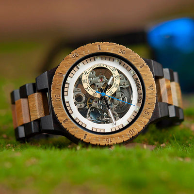 ⌚ Automatic wooden Watch ⌚
