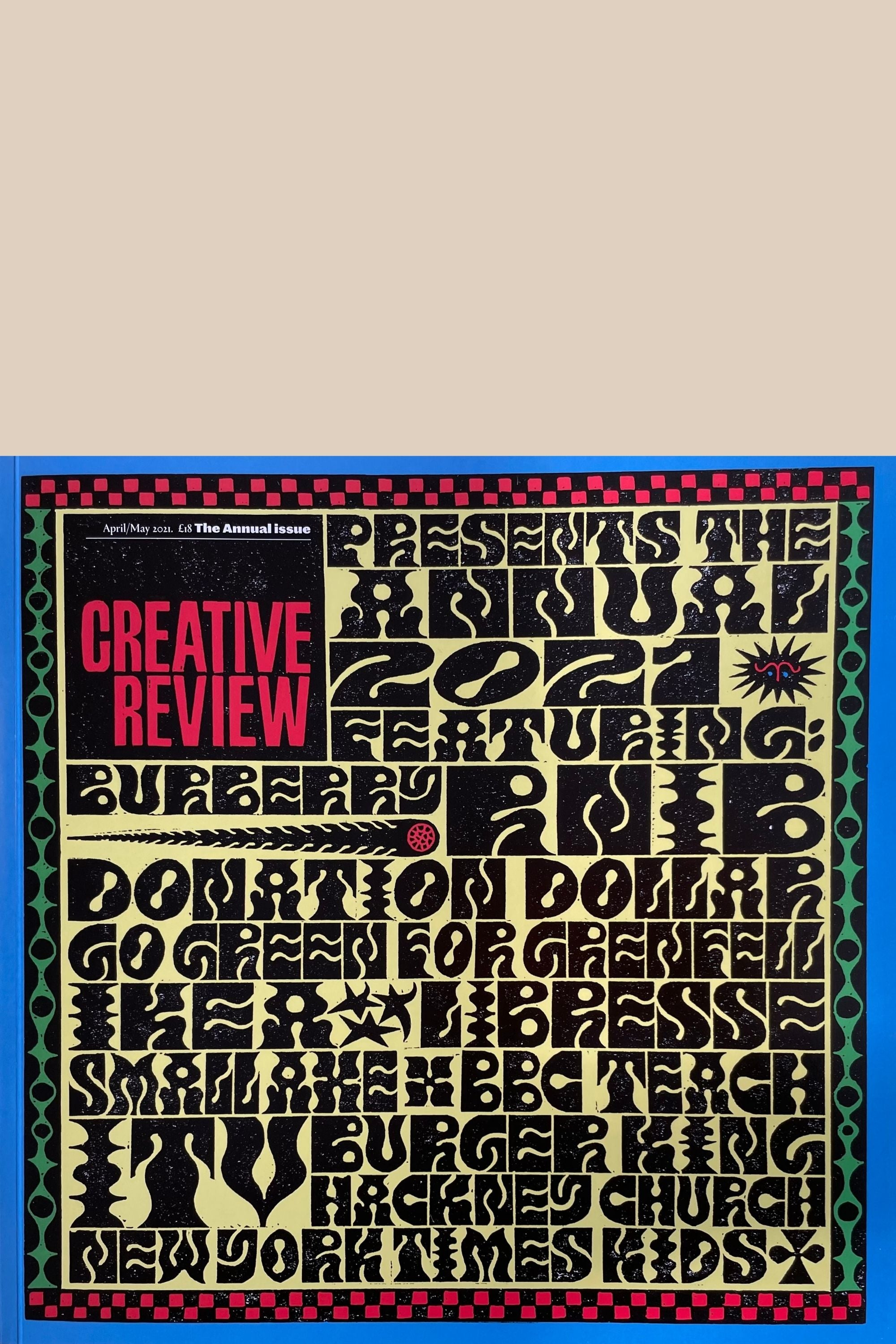 Front Cover of Creative Review April May 2021 at Pics & Ink