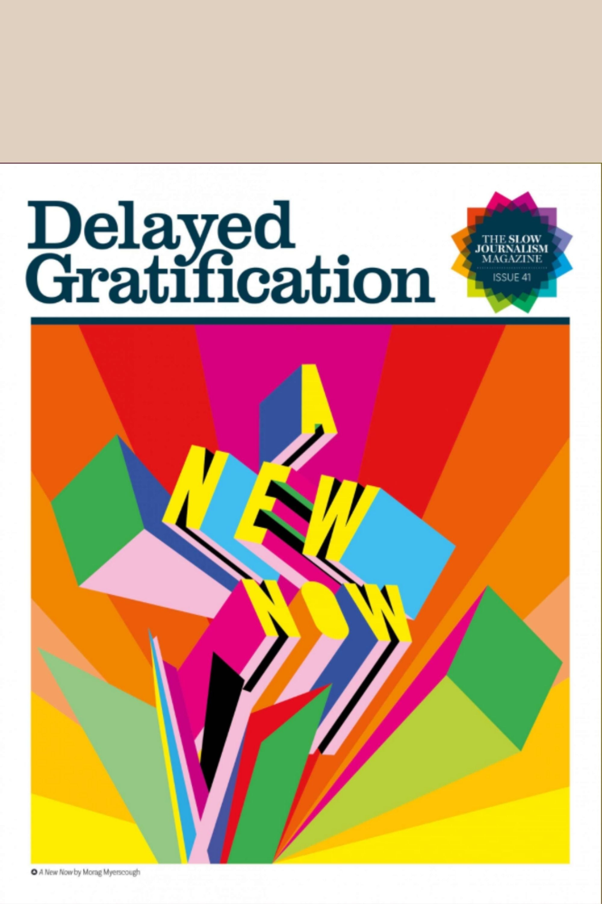 Delayed Gratification Issue 41 Front cover 'A new now'