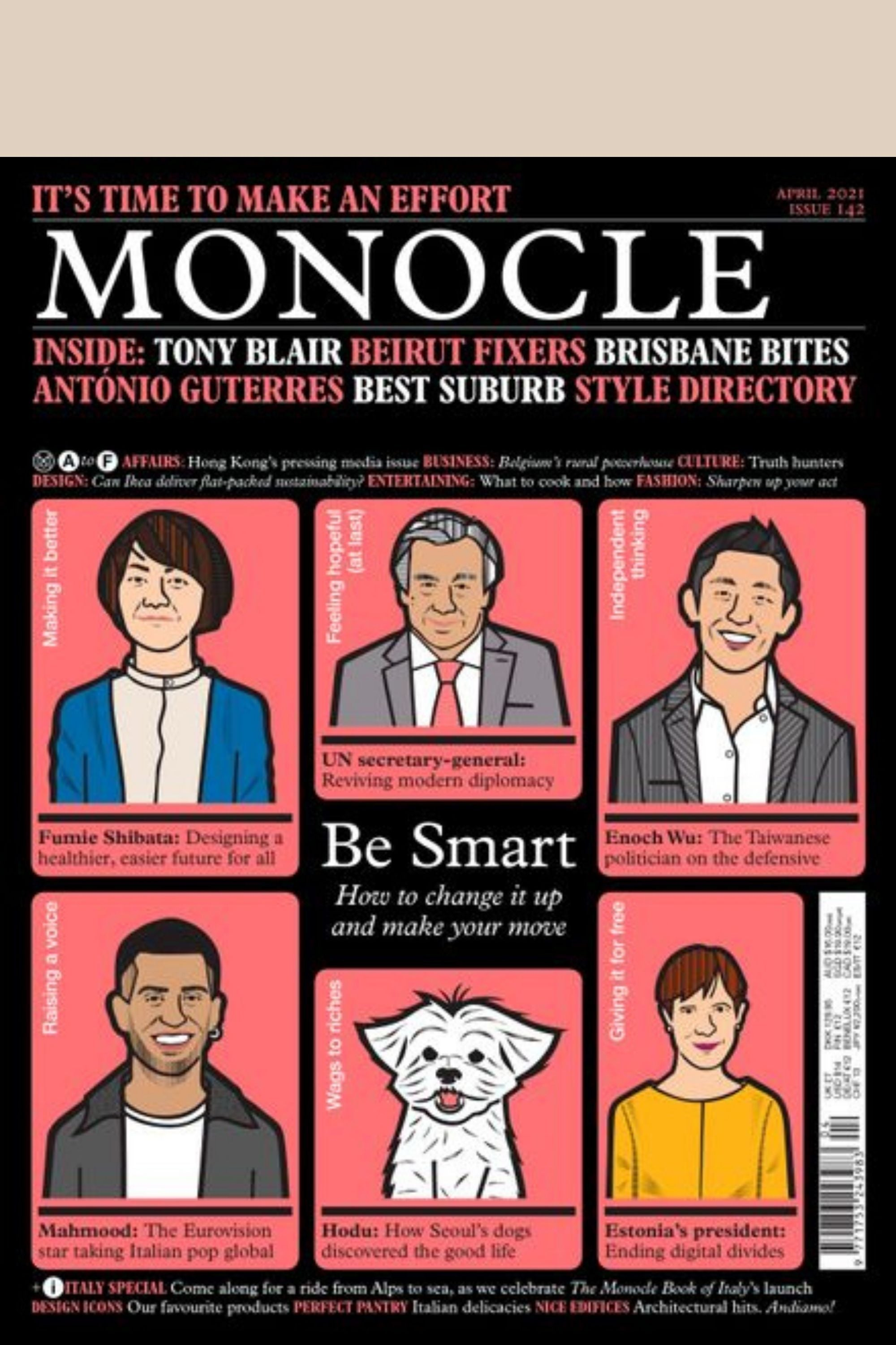 Monocle Magazine Issue 142 April 2021 'Be Smart' Front cover