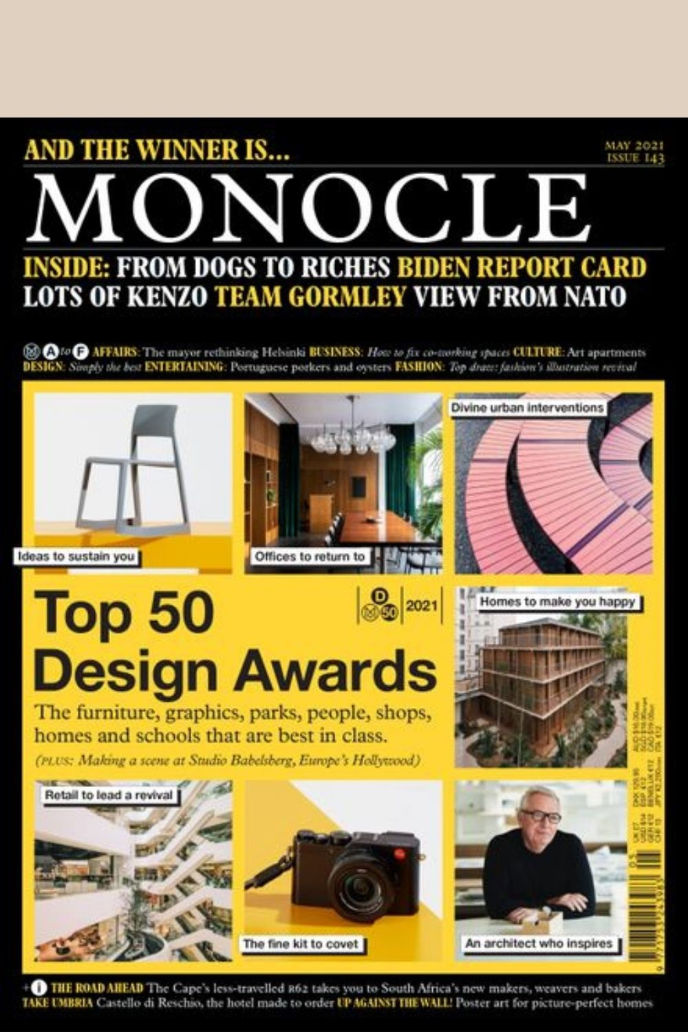 Front cover of Monocle magazine Issue 143