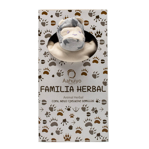 Cojín con forma de chango Familia Herbal