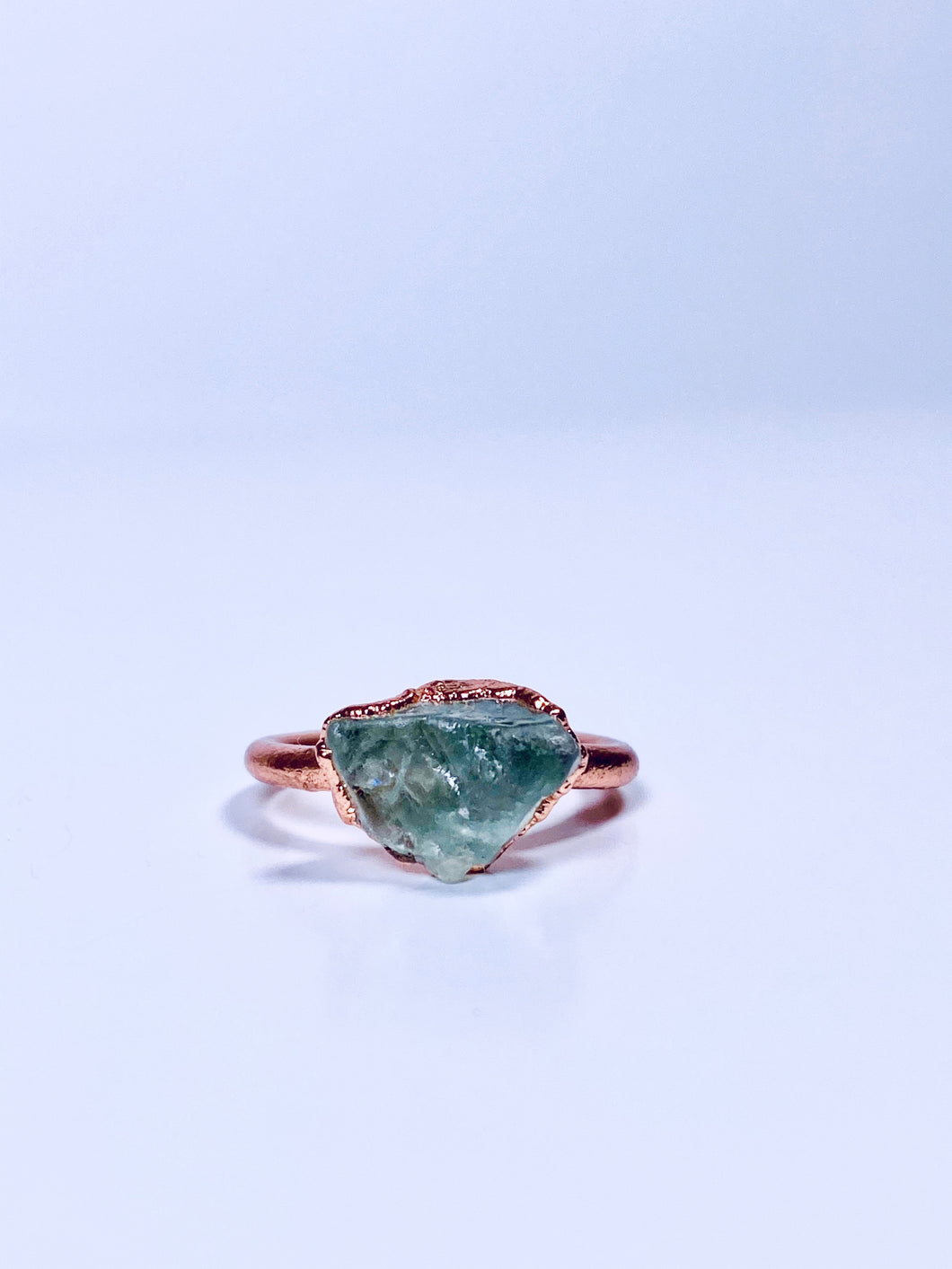 Raw Green Fluorite Ring