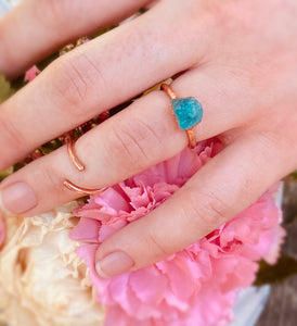 Blue Apatite Engagement Ring
