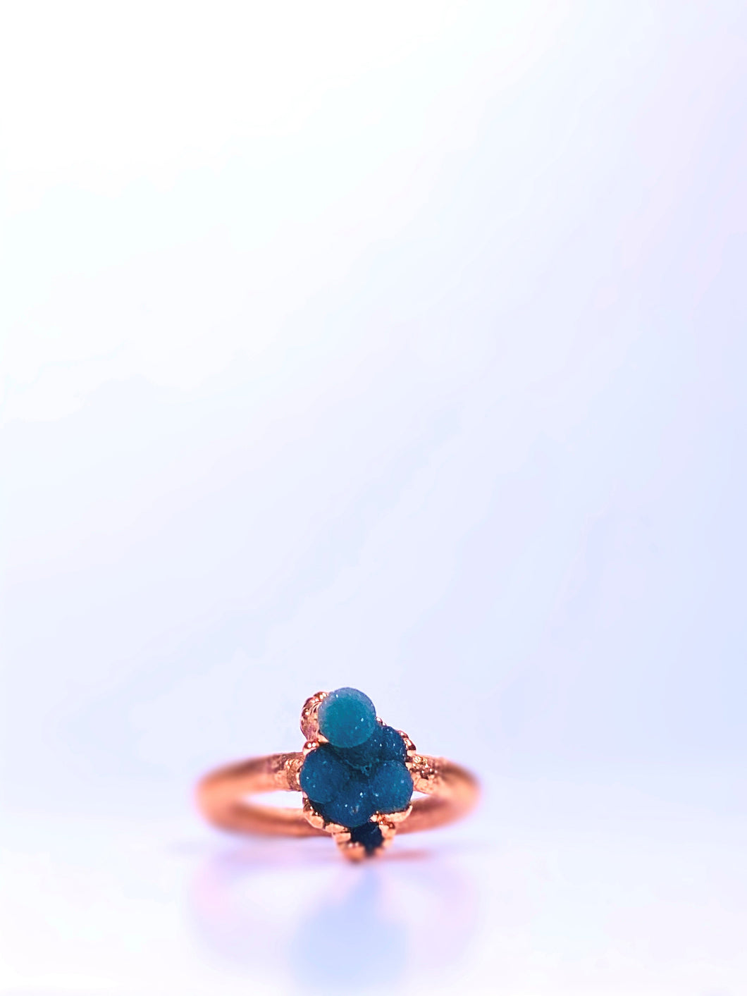 Raw Grape Agate Cluster Ring