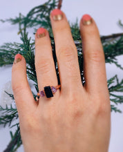 Load image into Gallery viewer, Pink & Black Tourmaline Ring