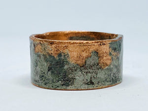 Masculine Distressed Copper & Silver Band