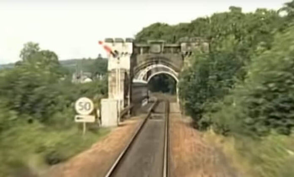 Still taken from Highland Main Line train video.