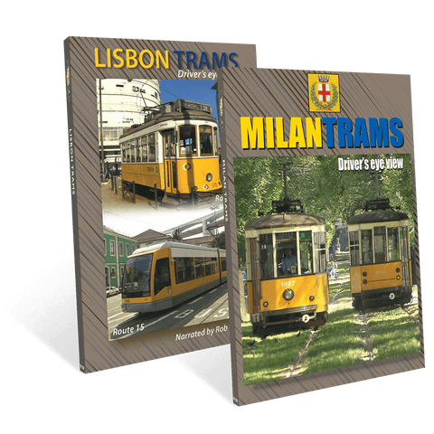 Lisbon and Milan – from the front of a tram!